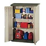 Rubbermaid Home Products RHP 3746 Large Vertical Outdoor Storage Shed - Taupe-Green