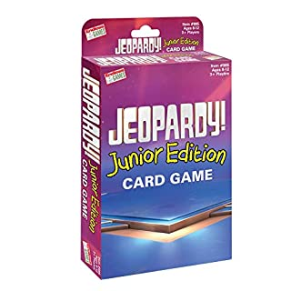 Endless Games Jeopardy Card Game - Junior Edition - Travel Sized Quiz Competition