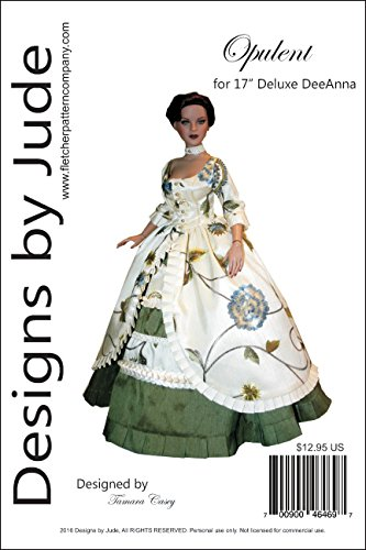 Deluxe Tonner Doll - Opulent Gown Pattern for 17