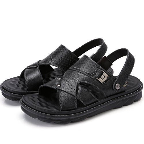 Indoor Fashion Water Mens Crown Camel Beach Summer Treads For Leather Slippers Walking Comfortable Black3 Sandals pfaBF7wq