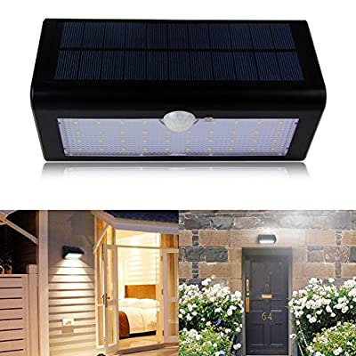 Premium Quality Solar Security Light, 38 LEDs Outdoor Solar Energy Motion Sensor Light Auto On/Off with 3 Modes Waterproof Solar Lighting for Porch Patio and Yard