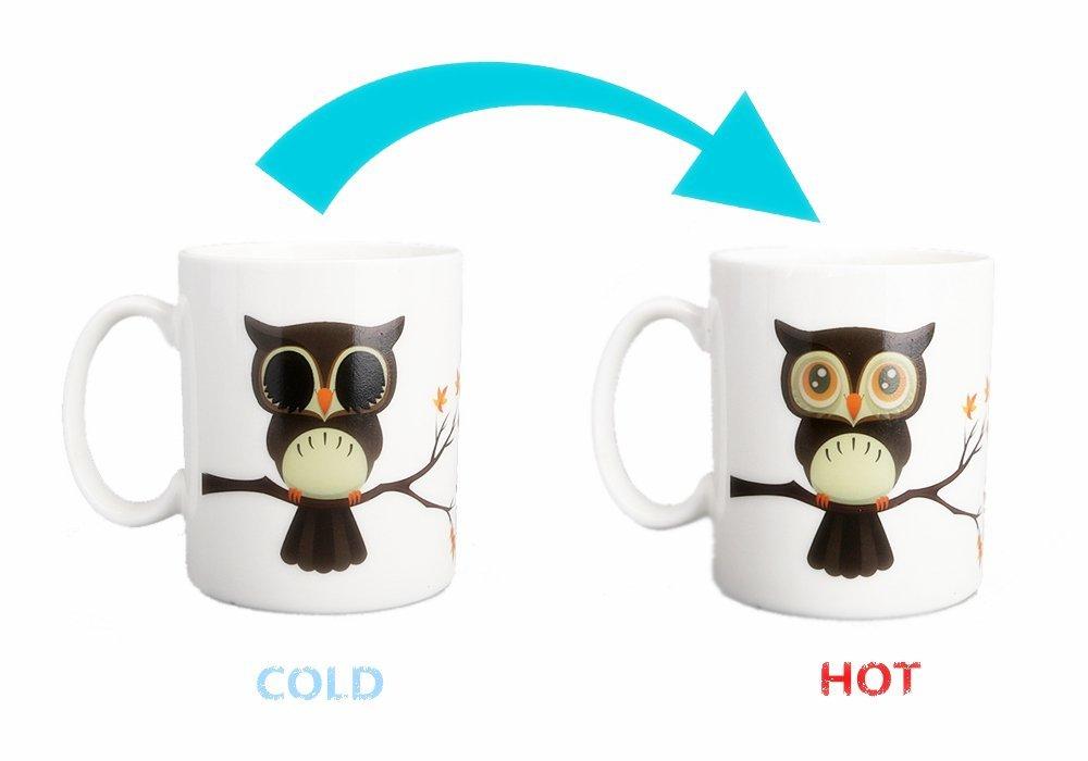 Nowsend Color Changing Magic Morning Tea latte tazza da caffè (Costellazione)