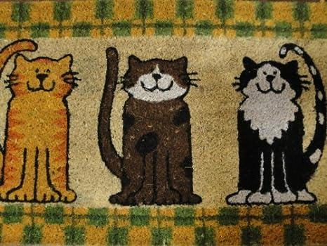 Unbekannt Felpudo fussabtretter 3 Gatos - Felpudo (Estera de Coco 75 x 45 cm: Amazon.es: Hogar