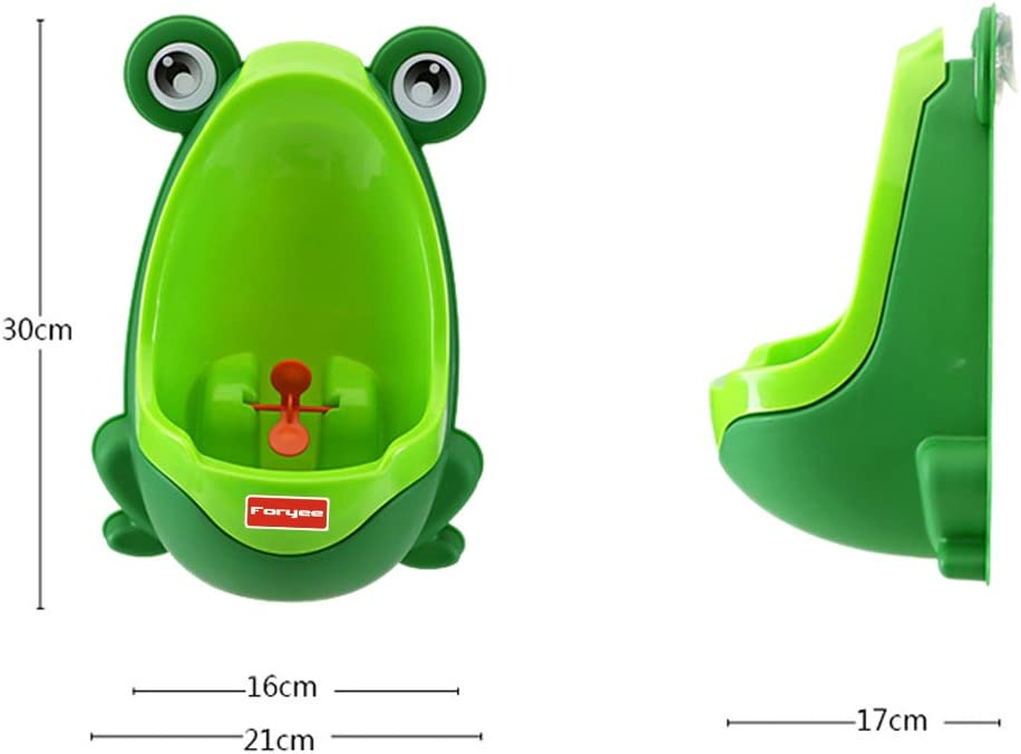 Blue 2 Pack TM Foryee Cute Frog Potty Training Urinal for Boys with Funny Aiming Target