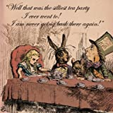 Alice in Wonderland Silliest Tea Party Greetings Card 14x14cm