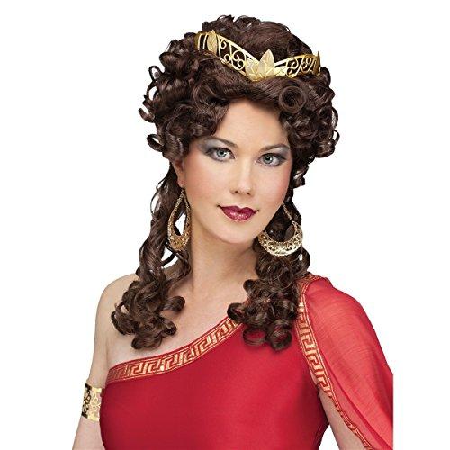 Fun World Unisex-Adult's Aphrodite Wig Assortment, Brown, Standard ()
