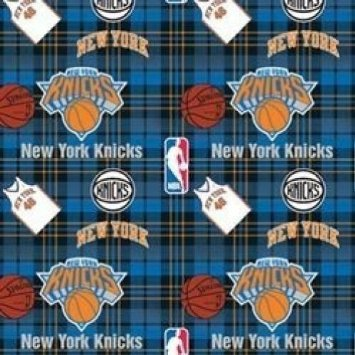 - Fleece York Knicks Plaid NBA Basketball Sports Team Fleece Fabric Print the yard (A609.27)