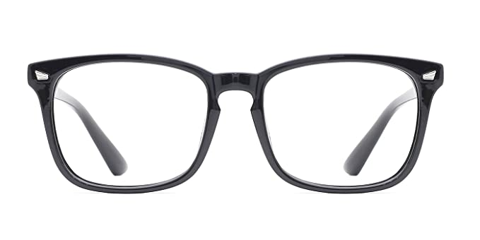 TIJN Retro Damen Herren Wayfarer Nerd Brille Ohne Stärke Hornbrille Sehhilfen Vq8xiTC