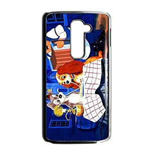 Creative Lady and the tramp Case Cover For LG G2 Case