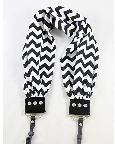 (Capturing Couture SCARF-CVBL Chevron Scarf Collection Camera Strap, Black)