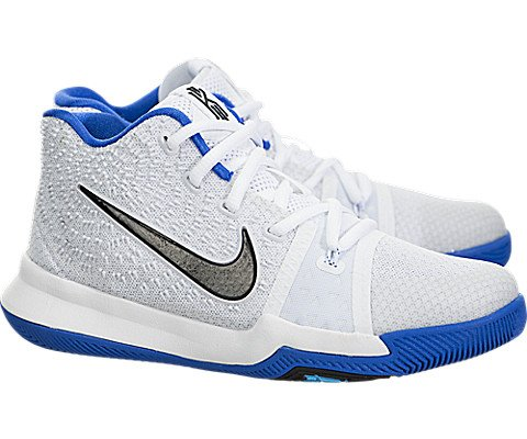 Nike Boy's Pre-School Kyrie 3 (PS) Sneakers White Cobalt Size 2Y D