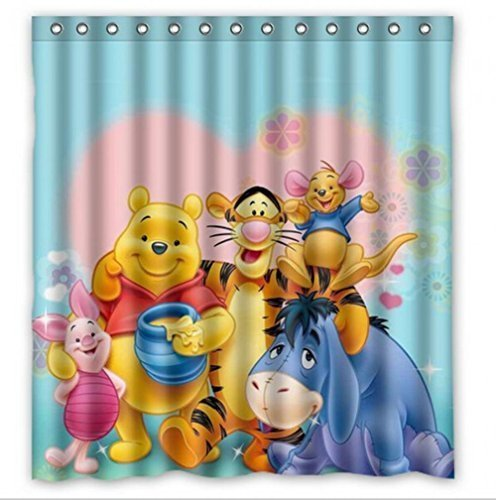 Mirryderr IManggo Custom Winnie The Pooh Stylish Modern Shower Curtain Bathroom Waterproof