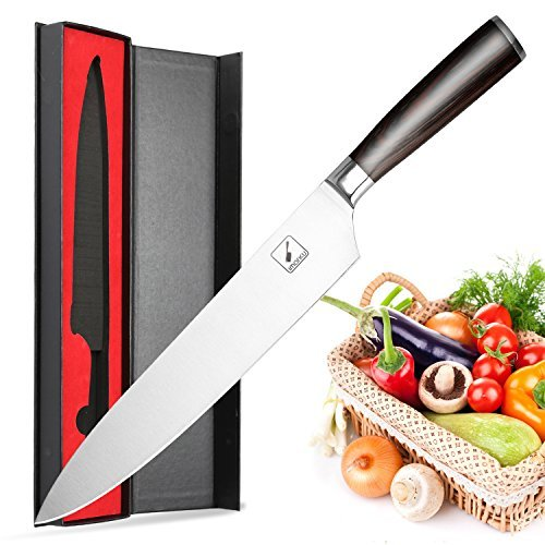 Chefs Knife,Imarku Kitchen Knife,10-Inch High Carbon German Steel Cooks Knife with Ergonomic Handle