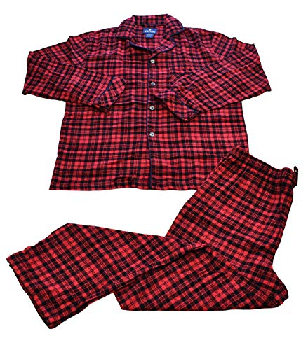 (Stafford - Flannel Pajama Set - 2 Piece (Large, Red Plaid))