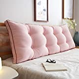 TIANTA-Cushion Water-washed cotton bed with large cushions cotton double long pillow bedside big backrest ( Color : G , Size : 120cm )
