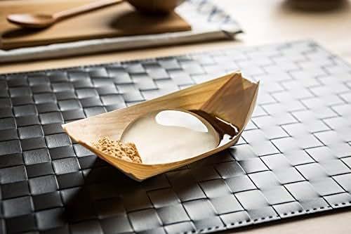 Raindrop Cake Making Kit Includes: Silicon mold, agar, dark brown sugar, kinako, wooden boats
