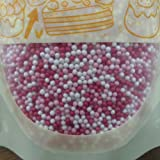 Natural Color Red/Pink/White NonPareils 50g bag/ 100's & 1000's Valentine cake cupcake decorations
