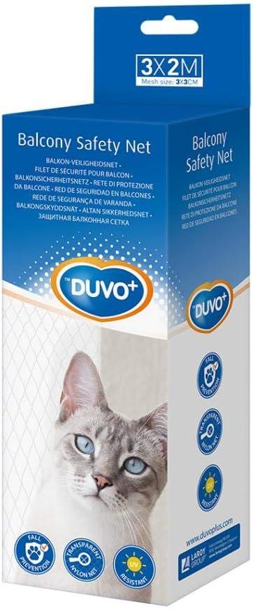 Duvo + Red de Seguridad Balcón para Gatos - 3x2 Metros: Amazon.es: Productos para mascotas