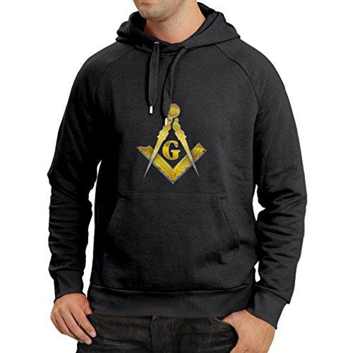 (Hoodie Gifts for Men Masonic Symbols Square and Compass Freemason Logo Shirt for him (XX-Large Black Multi)