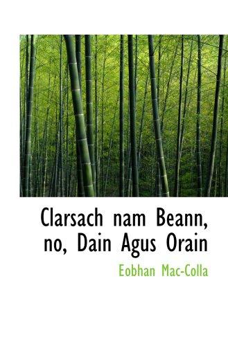 Download Clarsach nam Beann, no, Dain Agus Orain ebook