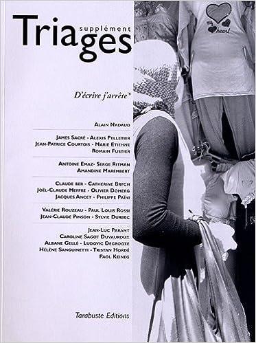 Télécharger en ligne Triages Supplément 2012 - D'écrire j'arrête pdf
