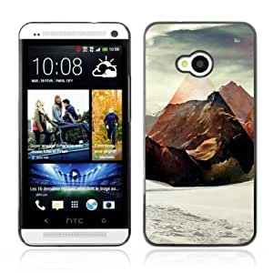 Designer Depo Hard Protection Case for HTC One M7 / Mountains