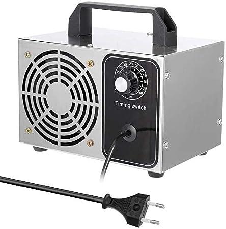 Sanyio Generador De Ozono De 24 g/h 220 v para Uso Doméstico con Temporizador Portátil Purificador De Aire De Ozono para La Esterilización De Formaldehído En El Hogar, Humo De Automóviles y Mascotas