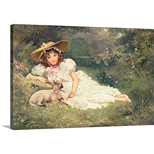 GREATBIGCANVAS Gallery-Wrapped Canvas Entitled The Little Shepherdess by Arthur May 18