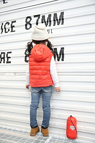 Hooded Outwear Winter Vest Orange Jacket Kids Chic Lemonkids;® Children Lightweight I4qXtt