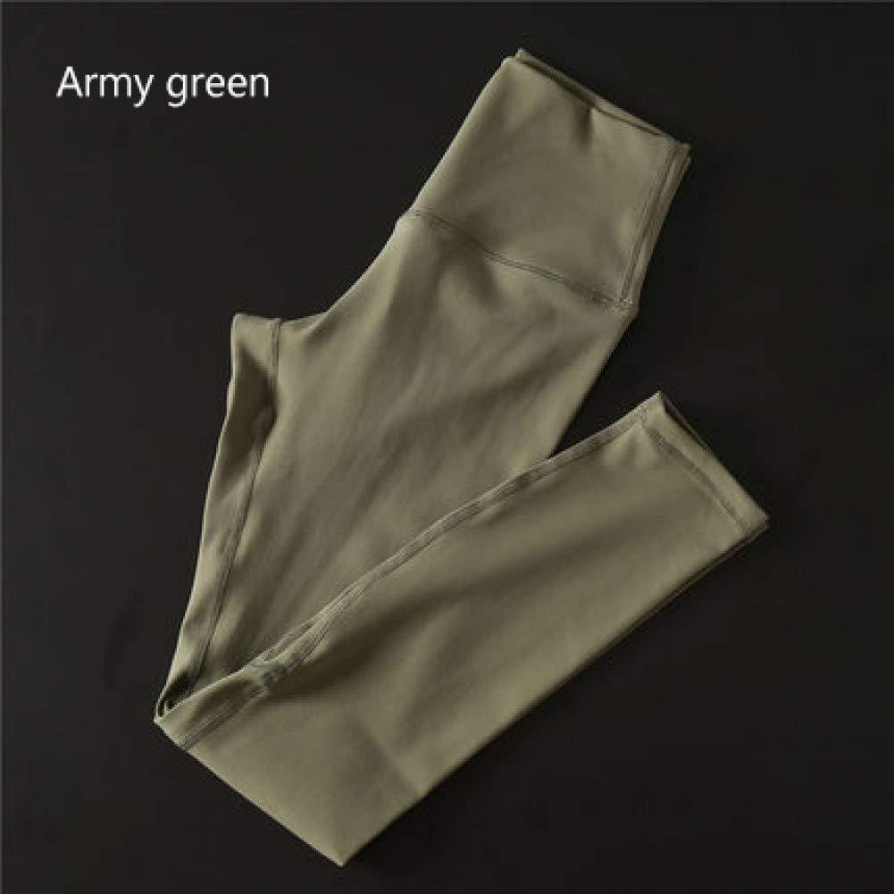 Army vert NSYJKPantalon de yogaPantalon de Yoga Ultra Extensible pour Gymnase avec contrôle de Ventre avec Poche cachée Taille Haute Leggings Sport Push Up Pants Small