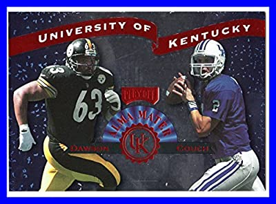 1999 Playoff Prestige SSD Alma Maters Jumbos #AM2 Tim Couch Dermonti Dawson KENTUCKY WILDCATS CLEVELAND BROWNS PITTSBURGH STEELERS measures 3.5x5 inches