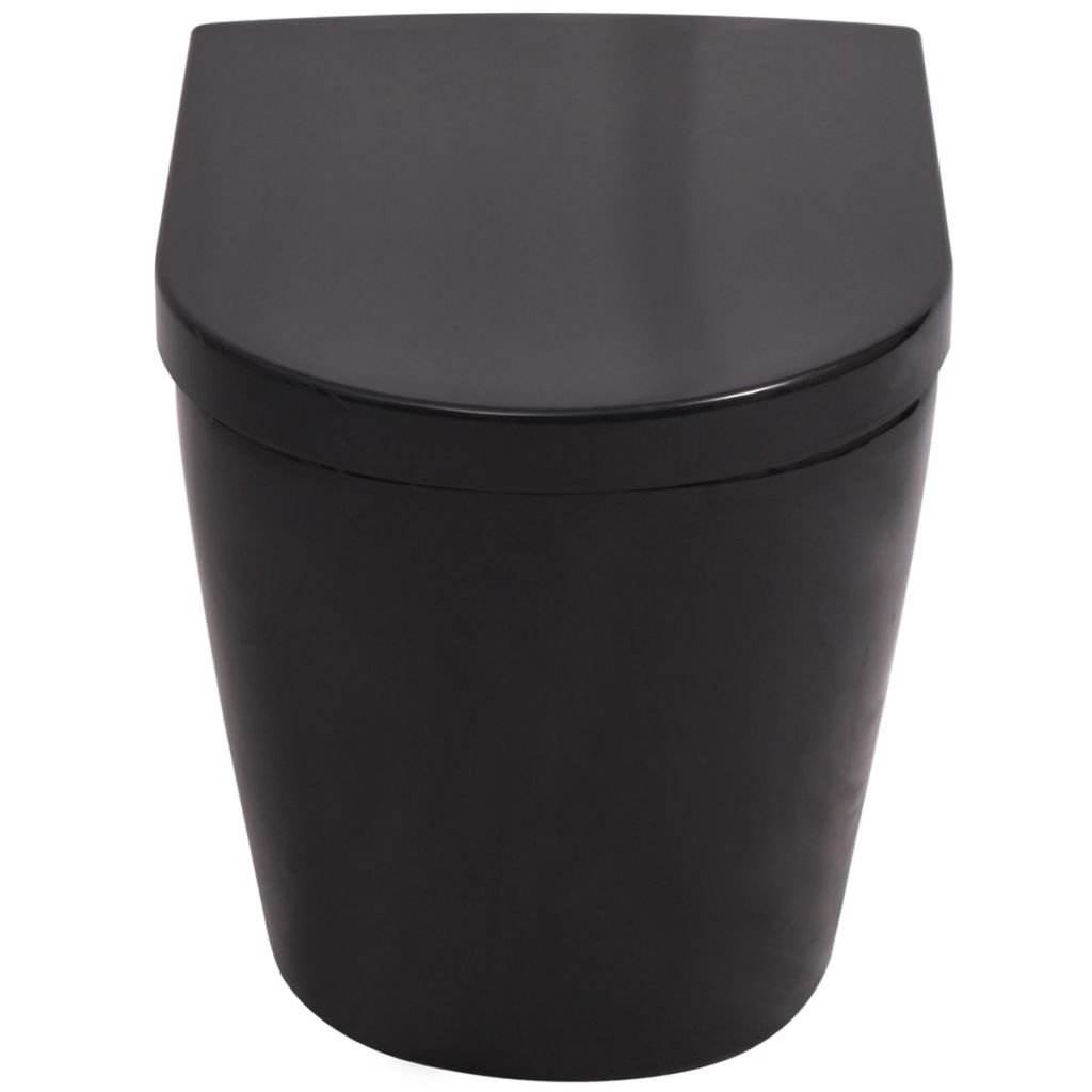 vidaXL Wand H/änge WC Keramik Softclose Sitz Absenkautomatik Wei/ß Toilette