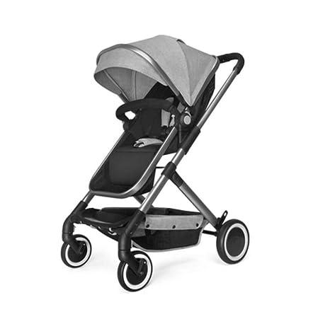 Carro de bebé- Puede sentarse y acostarse paraguas Carro alto Paisaje ligero plegable portátil Carro