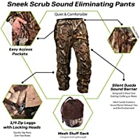 Sneek EZ Sneek Scrubs - Sound Eliminating Camo Hunting Gear For Over Your Clothing (Pants, XL)