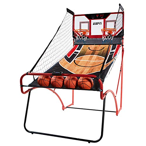 ESPN EZ Fold 2 player Basketball Game with Polycarbonate Backboard and LED Scoring