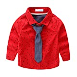 #10: Mud Kingdom Little Boys Shirt and Tie Set Cute Stars