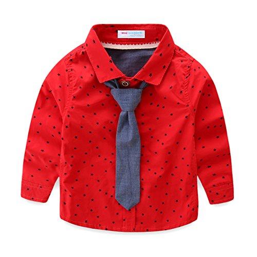 Mud Kingdom Toddler Boys Shirt and Tie Set Cute Stars 2T -