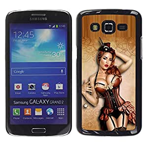 Impact Case Cover with Art Pattern Designs FOR Samsung Galaxy Grand 2 Sexy Pin Up Model Lingerie Stockings Betty shop