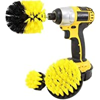 Drill Brush Attachment 3 Pack- Power Scrubber Brush Cleaning Kit - All Purpose Drill Brush for Bathroom Surfaces, Grout…