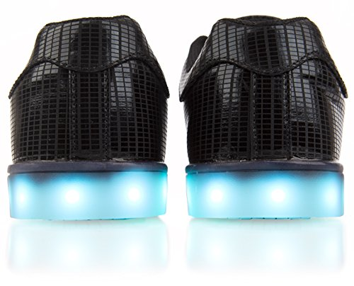 Electric Styles Electro- LED Light Up Sneakers Black excerJZ