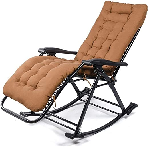 QIAOQ Tumbona Plegable portátil reclinable Silla Mecedora ...