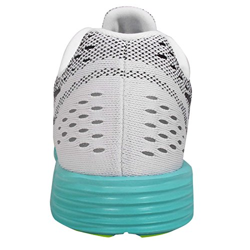 Nike Mujer Lunar Trainer Running Zapatos WHITE/BLACK-VOLT-LIGHT AQUA