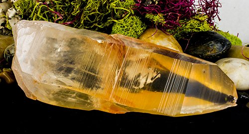 Golden Healer Lemurian Seed Crater Crystal