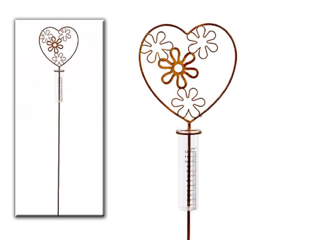 Herbert Denk Regenmesser Flores Metall/Glas Rost L100B19T6cm