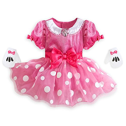 Disney Store Minnie Mouse Little Girl Short Sleeve Costume Dress & Gloves Set (12-18 M) -