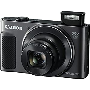 Canon Powershot SX620 Point & Shoot Digital Camera Bundle w/ Tripod Hand Grip , 64GB SD Memory , Case and More (Black) from Canon