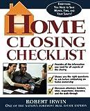Home Closing Checklist