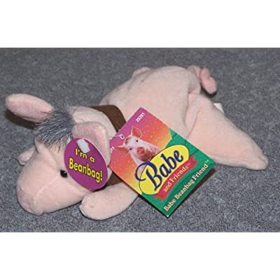 BABE THE PIG 1998 Plush Bean Bag (With Tags): Toys & Games