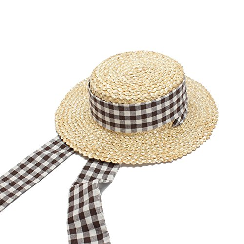 LOKOUO Raffia straw hat new hat ladies summer visor dome sun hat,onesize,PrimaryColor (Bags Nike Stand)