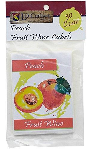 Peach Fruit Wine Labels (Peach Label)
